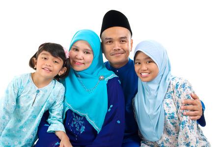 Moslim familie Stockfoto