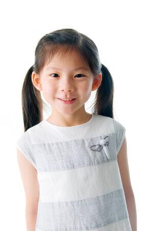 lovely girl: portrait of little asian girl