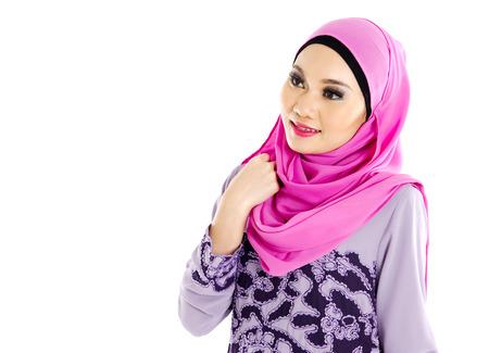 Portrait of a beautiful muslim woman Stock Photo