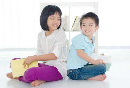 intelligently: Asian kids reading
