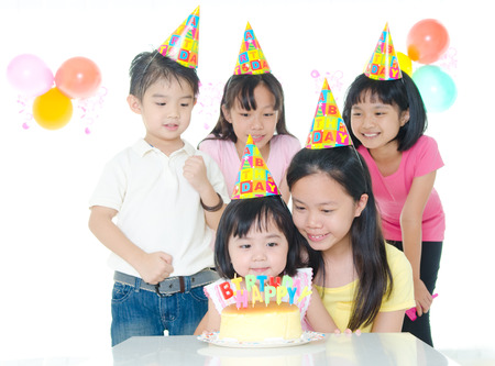 birthday party of asian kids photo