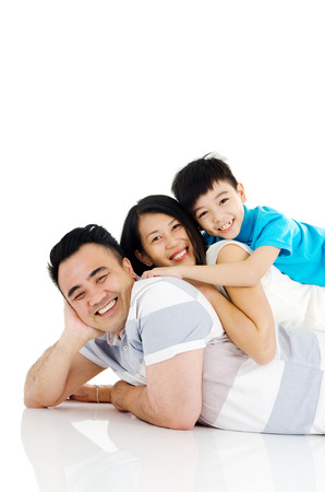 an active: Retrato de familia asi�tica
