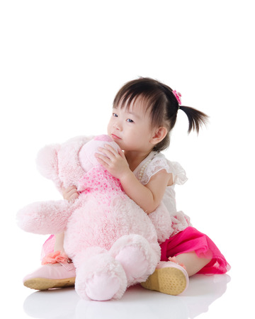 the infancy: Lovely asian baby holding toy
