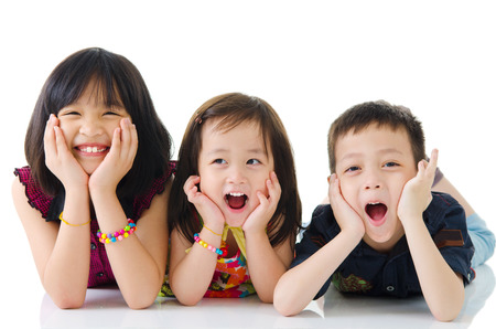 Portrait of cute asian kids Stock Photo