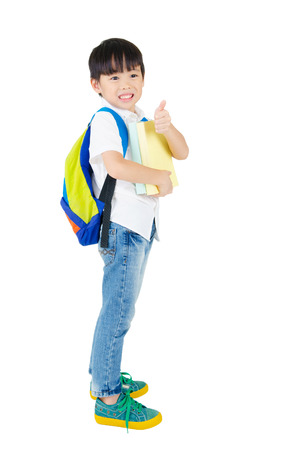 Asian kindergarten kid