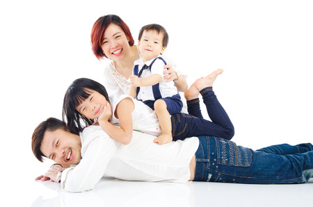 studio portrait: Asian family Stock Photo