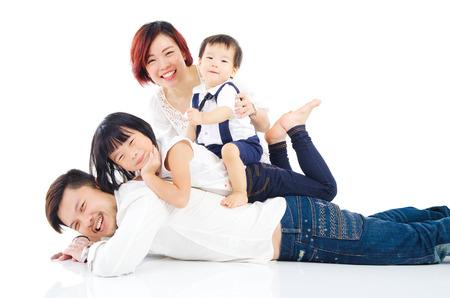 Asian family Standard-Bild
