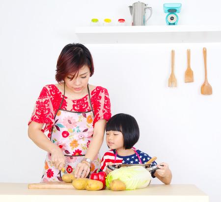 asian children: cooking