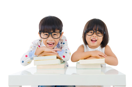 asian child: Child education Stock Photo