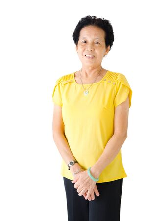 mujer alegre: Mujer mayor asiática