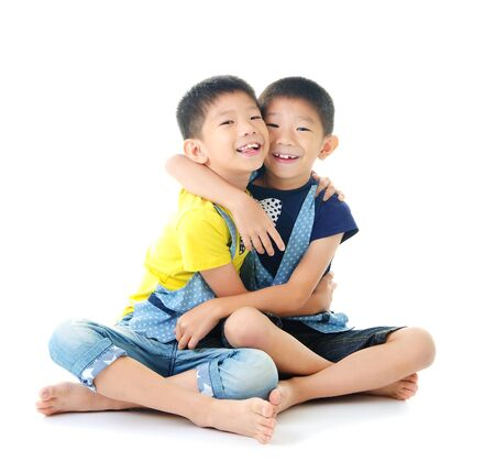 brothers: Asian twin brothers Stock Photo