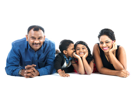 indian happy family: Indoor portrait of indian family