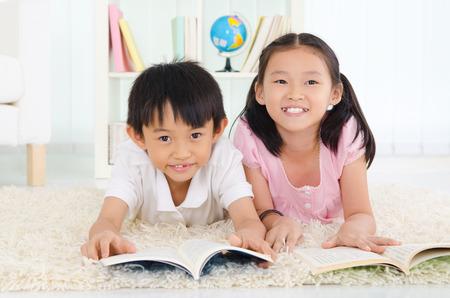 kids studying: reading
