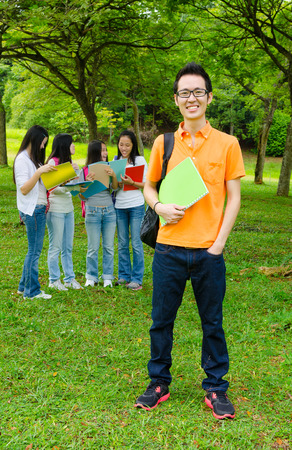 asian group: Asian college students Stock Photo