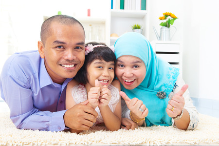 femmes muslim: Malay famille