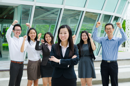 asian group: Group of asian business executive