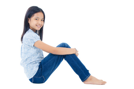 10 years girls: Portrait of asian child Stock Photo