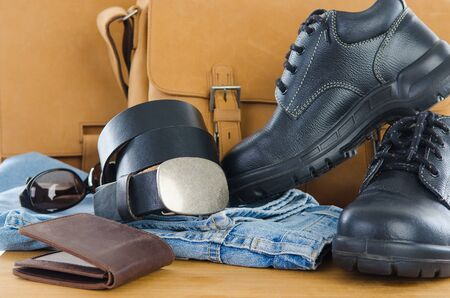 casual accessories for men Stock Photo