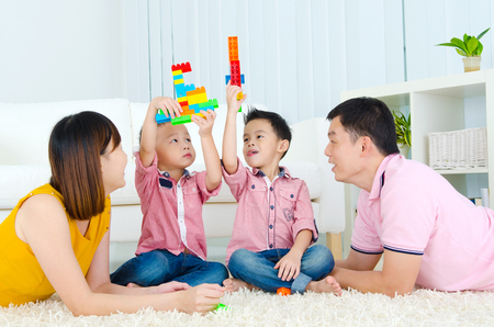 female bonding: Asian family Stock Photo