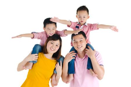 family portrait: Asian family Stock Photo