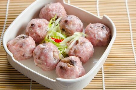 mouthwatering: Mushroom meat ball