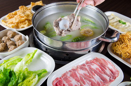 Chinese style hot pot cook