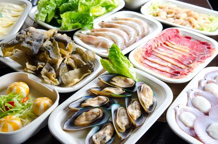 Ingredients for hot pot soup Banque d'images