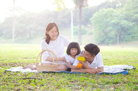 Asiatische Familie Picknick Standard-Bild