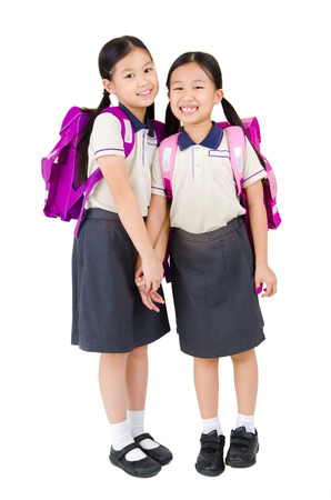 Portrait of lovely asian primary students