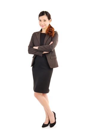 executive woman: Arms-crossed confident asian businesswoman