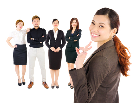 group of business people: Asian business team