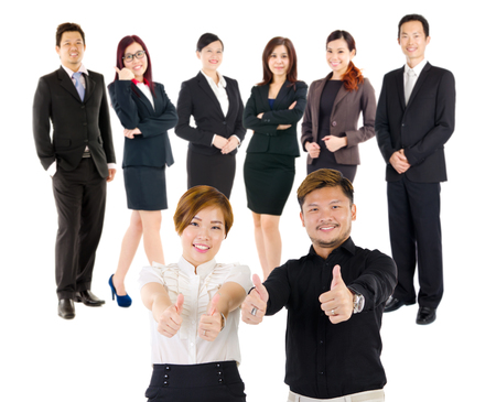 niñas chinas: Grupo de ejecutivos de negocios de Asia confianza Foto de archivo