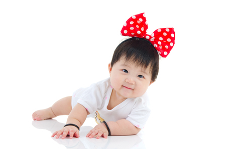 Lovely asian baby Stock Photo