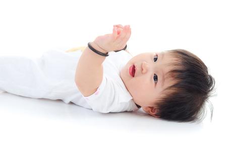 singaporean: Lovely asian baby lying on the floor