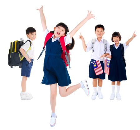 schoolkids: Portrait of a group of primary students