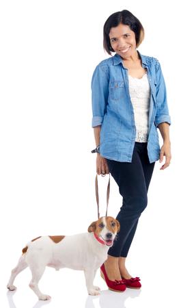 filipino ethnicity: Asian woman and dog Stock Photo