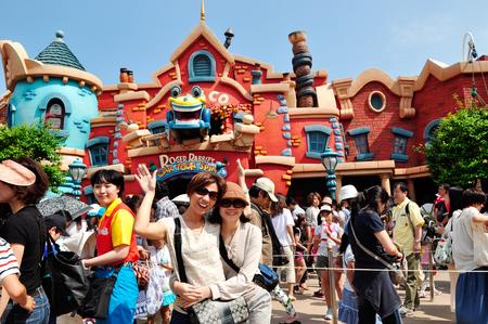 TOKYO, JAPAN- 28 May  2012, Visitors at Tokyo Disneyland Editorial