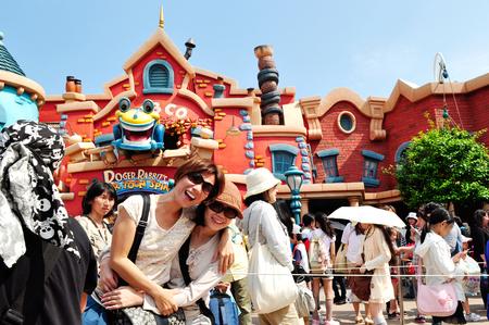 TOKYO, JAPAN- Visitors at Tokyo Disneyland