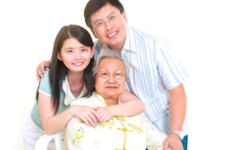 Portrait of asian senior woman and children