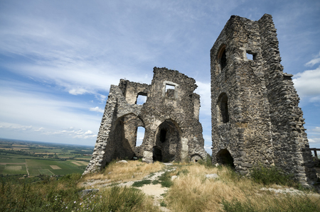 Ruins of Somlo castle, Hungary