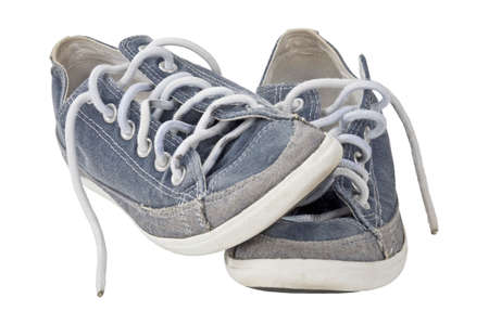 sport shoe: Isolated sport shoe pair with clipping path Stock Photo