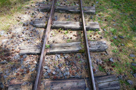 narrowgauge: Old narrow-gauge railways detail with different sleepers from above