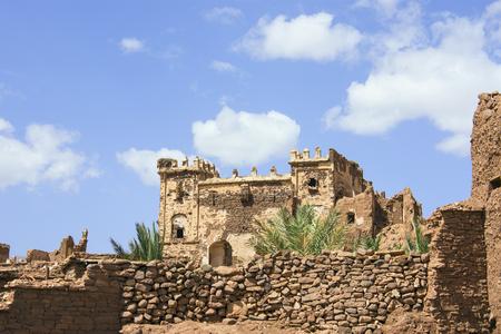 Telouet Kasbah Palast ruiniert Gebäudedetails Marokko, Afrika Standard-Bild - 89185329