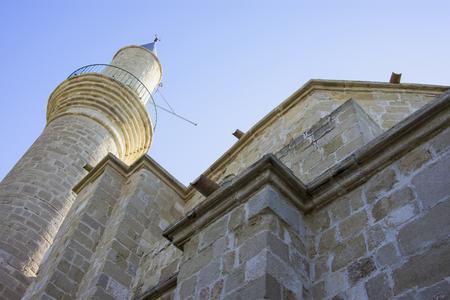 Hala Sultan Tekke Mosque detail with tower Stock fotó