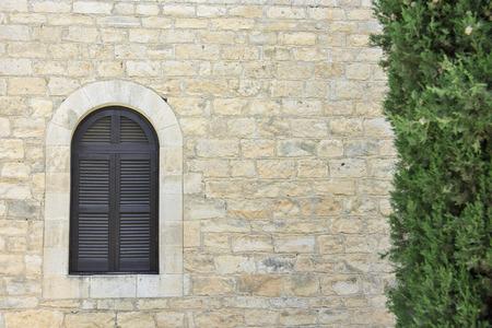 Saint Neophytos Monastery building details in Cyprus Stock fotó