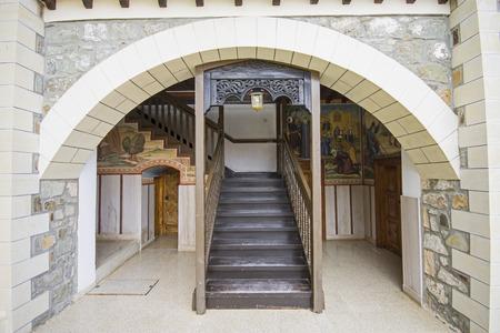 Building details of Kykkos Monastery in Cyprus
