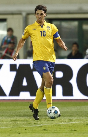 Swedish Ibrahimovic during Hungary vs. Sweden FIFA World Cup 2010 group stage match at Puskas Ferenc Stadium on 5th September 2009, in Budapest, Hungary  Editorial