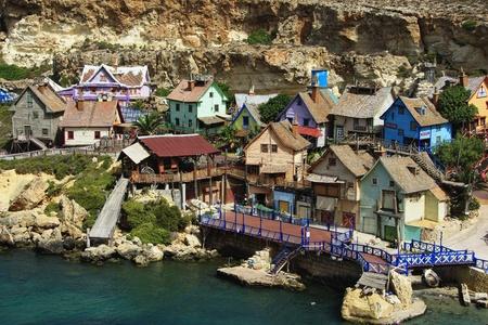 Malta, Popeye Village Stok Fotoğraf