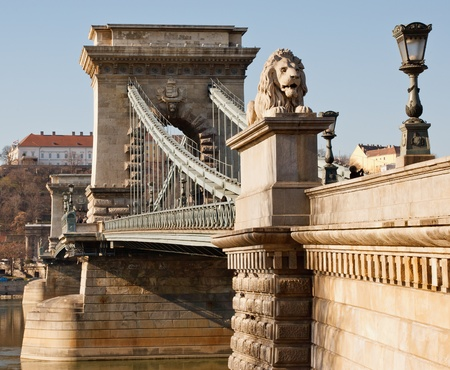 Chain Bridge in Budapest, Hungary Stock Photo - 10685750