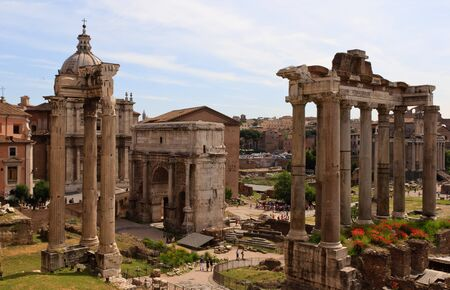 obelisc: Forum Romanum Stock Photo